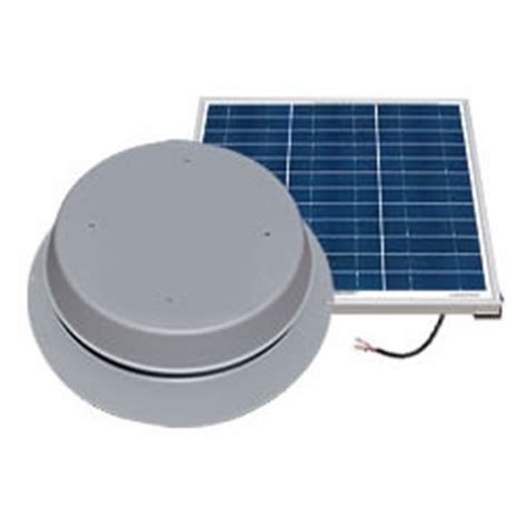 natural light solar attic fan 36 watt natural light saf50 50 watt gray solar attic fan