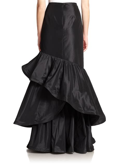 Ruffled Skirt black ruffle skirt russian