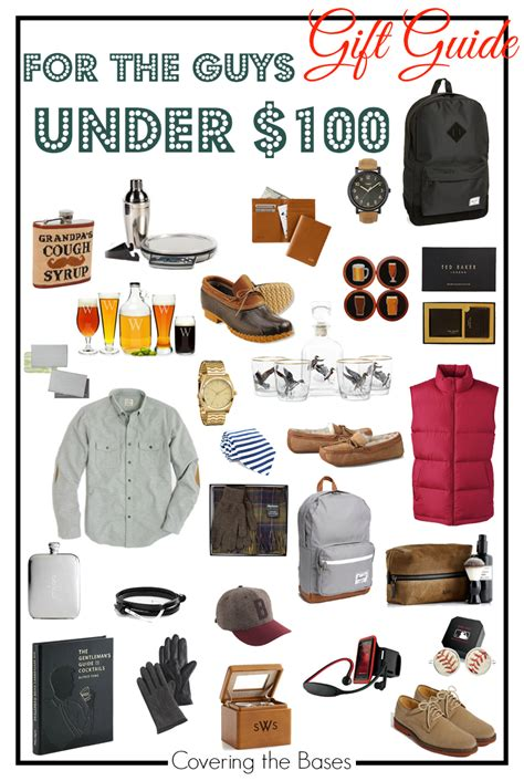gift guide for the guy under 100 covering the bases