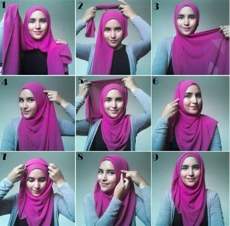 tutorial hijab simple buat kerja 1000 ideas about hijab tutorial on pinterest hijab