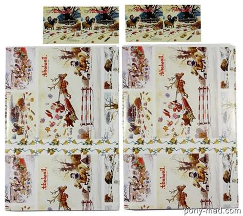 thelwell pony luxury christmas gift wrap set 2 sheets