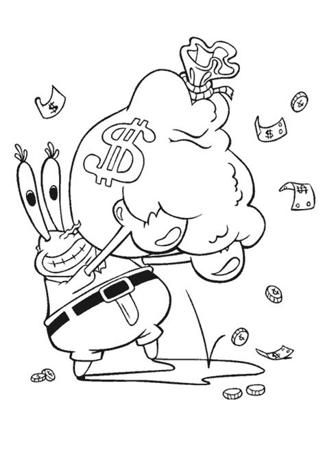 mr krabs coloring pages coloring
