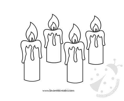 candele di avvento corona dell avvento disegno lavoretti creativi