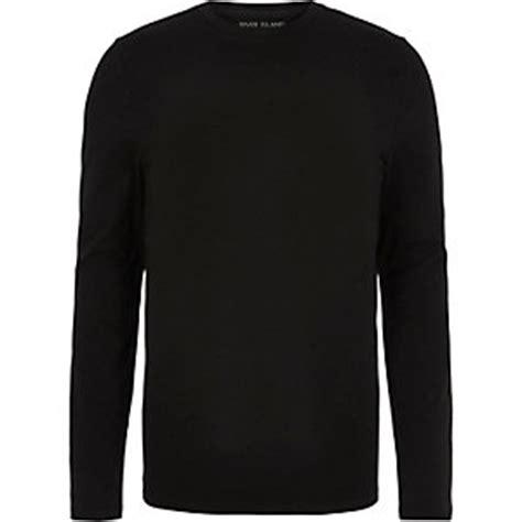 Longline T Shirt Raglan Suede Black And Brown mens t shirts vests river island