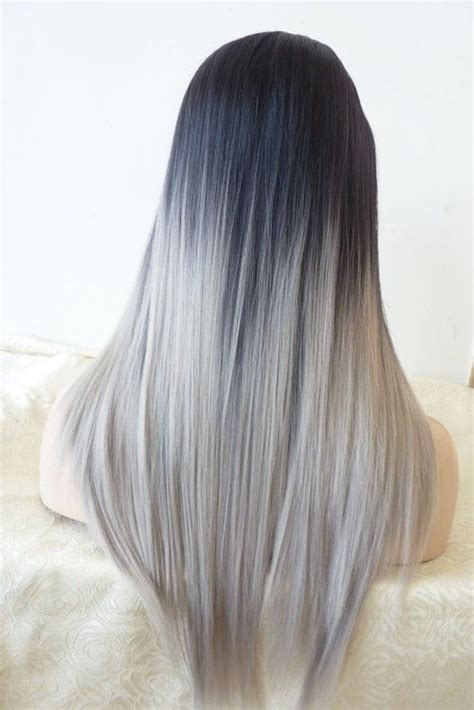 hair color grey in front two tones grey and balayage on pinterest