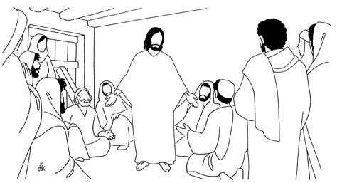 coloring pages jesus appears to the disciples du diacre michel houyoux 187 archives du 187 voir et
