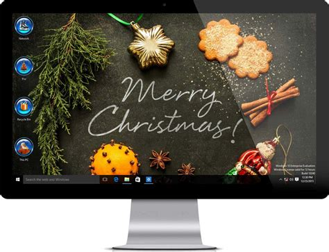 themes windows 10 christmas merry christmas theme for windows 10
