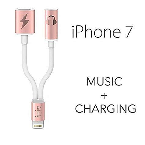 Iphone 7 7 Plus Lightning To 35mm Converter Gadgetgum 2 in 1 lightning to 3 5mm aux audio adapter for iphone 7 7 plus sprtjoy 3 5mm earphone
