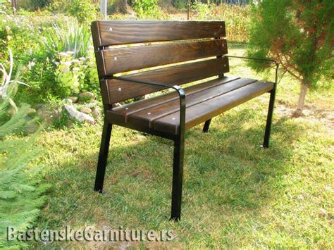 park bench furniture metal and wood park bench klupe za parkove park