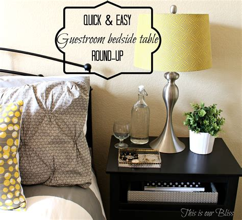 dress up your table with an easy round topper quilting digest quick easy guestroom bedside table round up this is