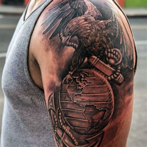 eagle tattoo anchor military eagle globe anchor tattoo on chest photo 2