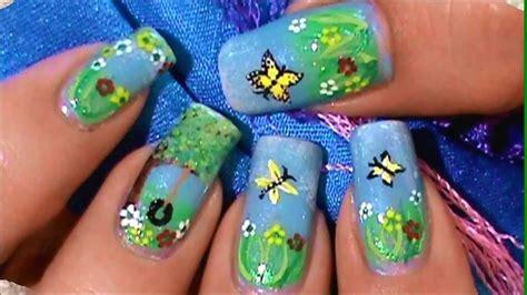 imagenes para pintar las uñas como pintar un paisaje jardin en sus u 241 as youtube