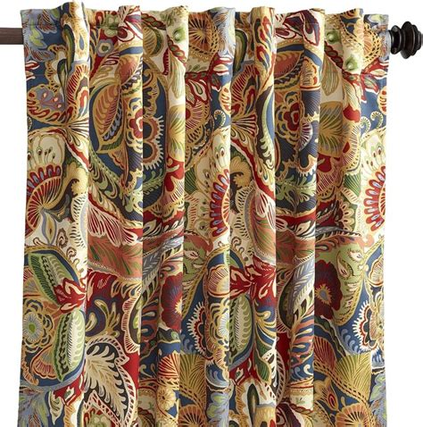 vibrant paisley curtains vibrant paisley curtain transitional curtains by
