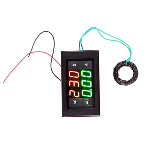 Lu Led 1 Meter car ac 500v 100a digital voltmeter ammeter led volt meter ct shunt universal power energy