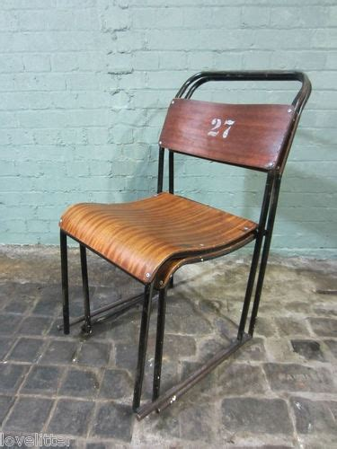 School Dining Tables And Chairs 2 Vtg Metal Wood Stacking Chairs School Dining Kitchen Industrial Industrial Kitchen