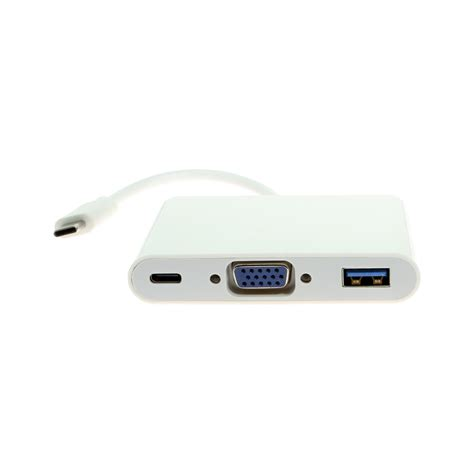 Connector Usb To Vga usb c to vga w usb 3 0 and type c ports coolgear