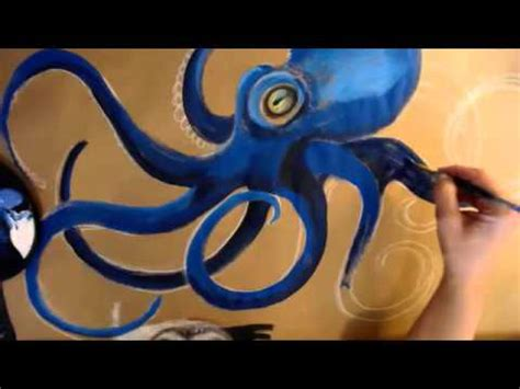 Painting G With A Twist by Painting An Octopus