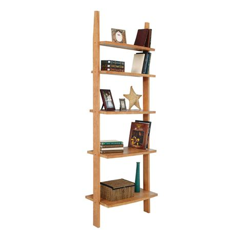 modern wooden ladder style bookshelf solid wood