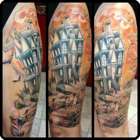 lightwave tattoo leg by natan of witch city ink