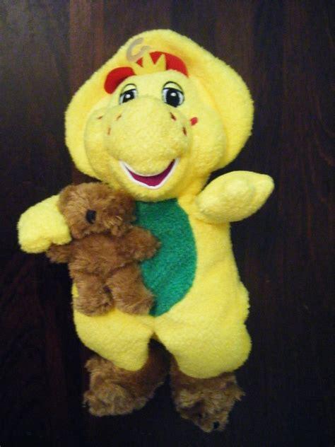 barney slippers barney friends 10 quot plush bj w teddy