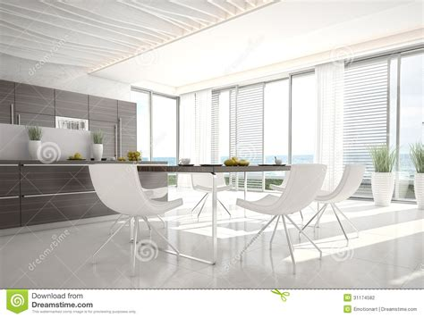 ultra modern design ultra modern design kitchen interior architecture stock