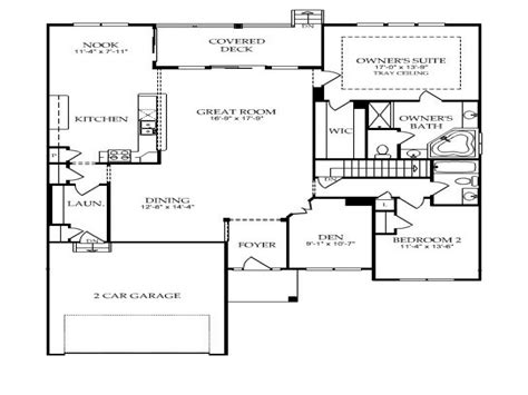 Single Story Open Floor Plans by Single Story Open Floor Plans Single Story Open Floor