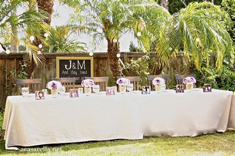 Outdoor Backyard Wedding Ideas Rustic Outdoor Wedding Reception