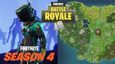 fortnite season 4 fortnite battle royale sheet map and locations