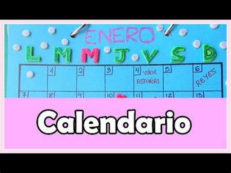Calendario Cartulina Manualidades C 243 Mo Hacer Un Calendario De Mesa Cartulina