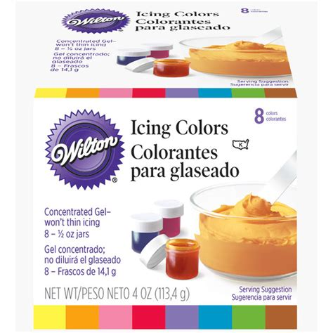 wilton icing colors 8 icing colors set wilton
