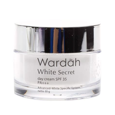 Pelembab Wardah Day jual wardah white secret day pelembab wajah 30 gr