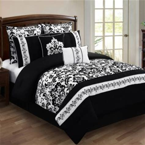 Jcpenney Bed Sheets by Alisia 8 Comforter Set Jcpenney Black White