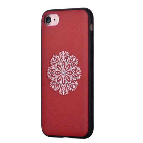 Flower Fur For Iphone 7 Plus Iphone 8 Plus devia flower embroidery