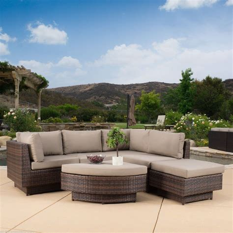 outdoor patio sectional furniture sets outdoor patio furniture 6 multi brown pe wicker sofa