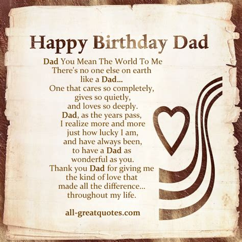 Verses For Dads Birthday Cards Happy Birthday Dad Quotes Quotesgram
