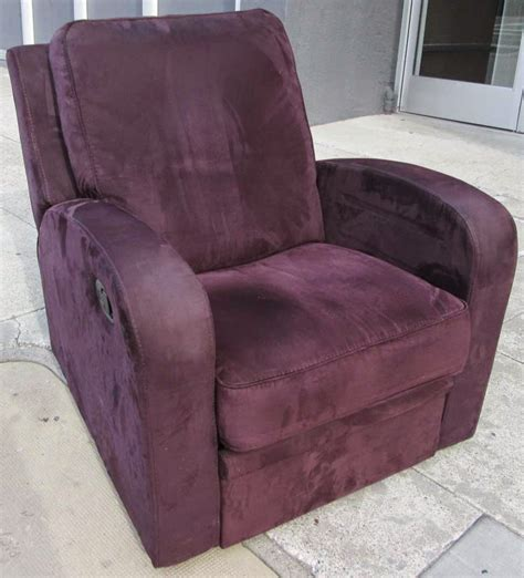 purple recliner uhuru furniture collectibles sold deep wine purple