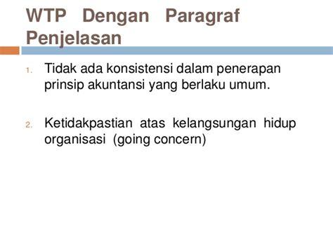 skripsi akuntansi going concern opini bpk