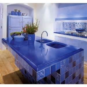 Blue Kitchen Countertops Rethinking Neutrals