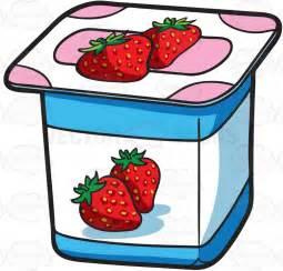Yogurt Clipart a one serving strawberry yogurt for sale clipart vector