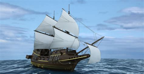 pirate boat pirate ship sahern3d