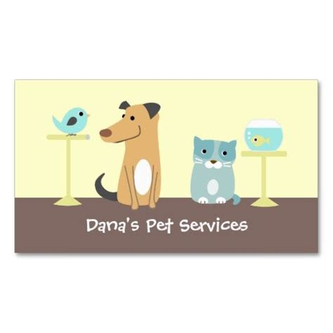 Pet Business Card Template by Pet Sitter S Business Card Animal Pet Care Business Card