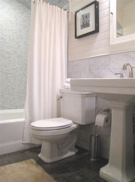 pedestal sink curtain white and gray bathroom contemporary bathroom jeff