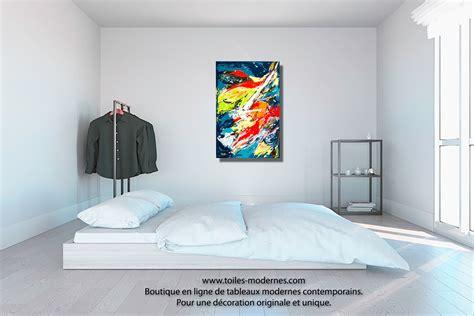 tableau d馗oration chambre tableau mer color 233 objet d exception unique format