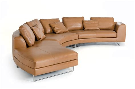 camel leather sectional sofa divani casa tulip modern camel leather sectional sofa