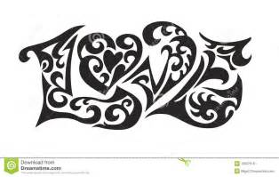 word logo love tatoo royalty free stock photos image