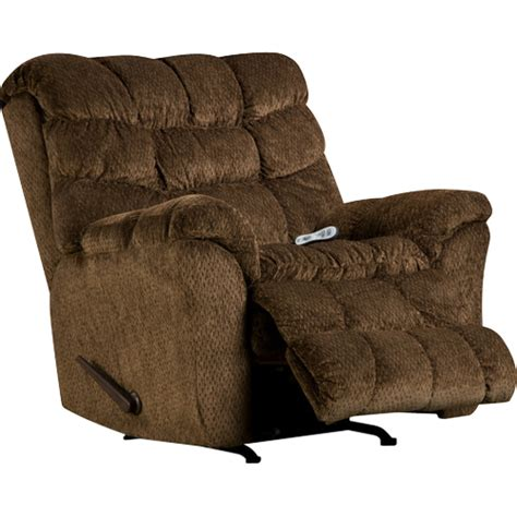 heated massaging rocker recliner simmons bm850 alpine heat massage chocolate rocker
