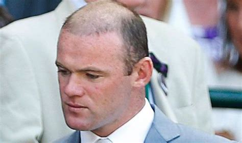 wayne rooney shows off the results of second hair wayne rooney shows off shaved hairdo at wimbledon