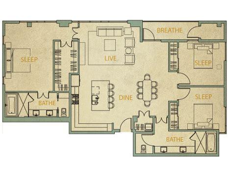 3 bedroom condo floor plans 3 bedroom condo
