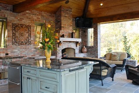 covered outdoor kitchen high end outdoor kitchen in louisiana landscaping network