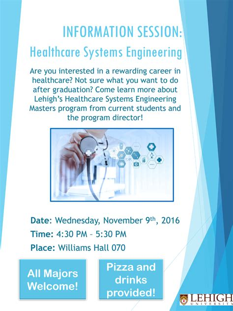 info session for healthcare systems engineering hms
